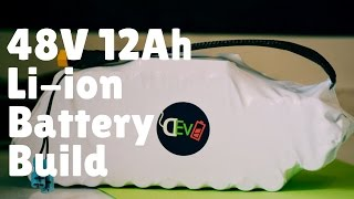 48v 12ah 600wh compact li ion battery build for bfold electric bike conversion