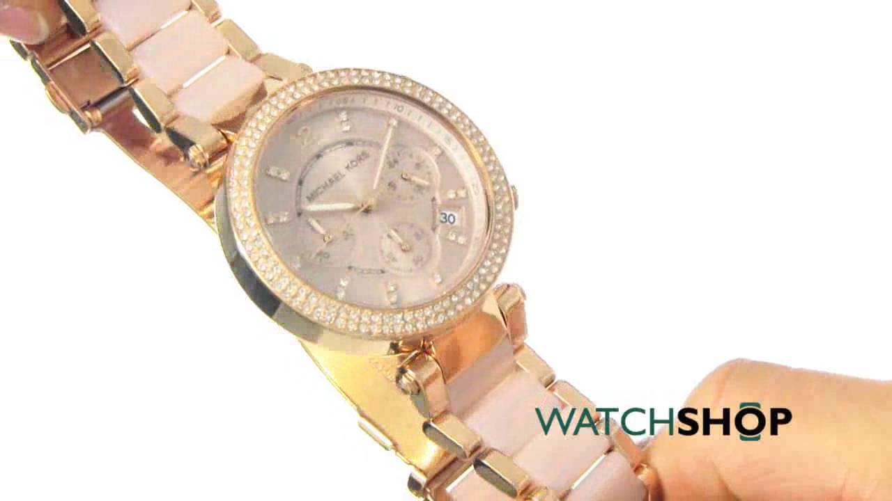 fc2021192628 Michael Kors Ladies  Parker Chronograph Watch (MK5896) - YouTube