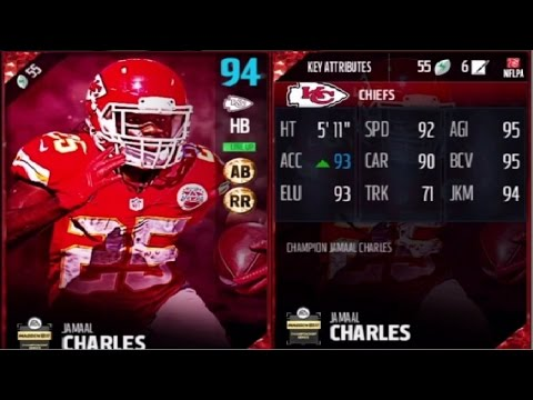 Competitive Badge Jamaal Charles | Player Review | Madden 17 Ultimate Team Gameplay