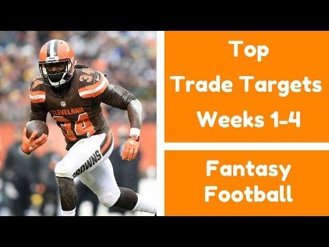 Top Trade Targets Early Season (Weeks 1-4) | Fantasy Football 2017