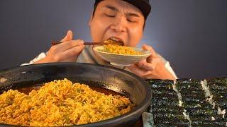 열라면과 김밥, 파김치 먹방~!! 리얼사운드 socia…