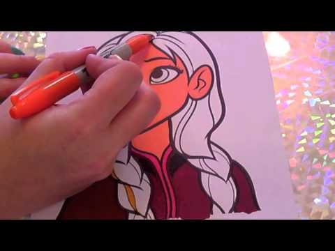 Walt Disney Coloring Pages Frozen : Frozen disney color in anna kids coloring with colorcraze