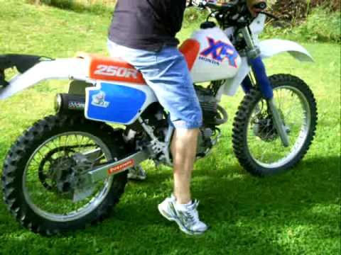 Starting XR250 - 92 in jogging shoes