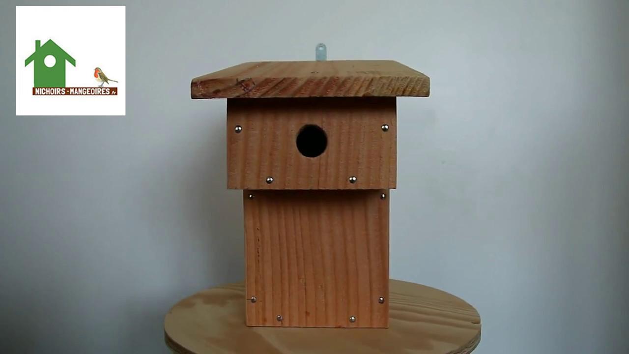 nichoir balcon pour m sanges nichoirs oiseaux en bois fabrication fran aise artisanale youtube. Black Bedroom Furniture Sets. Home Design Ideas