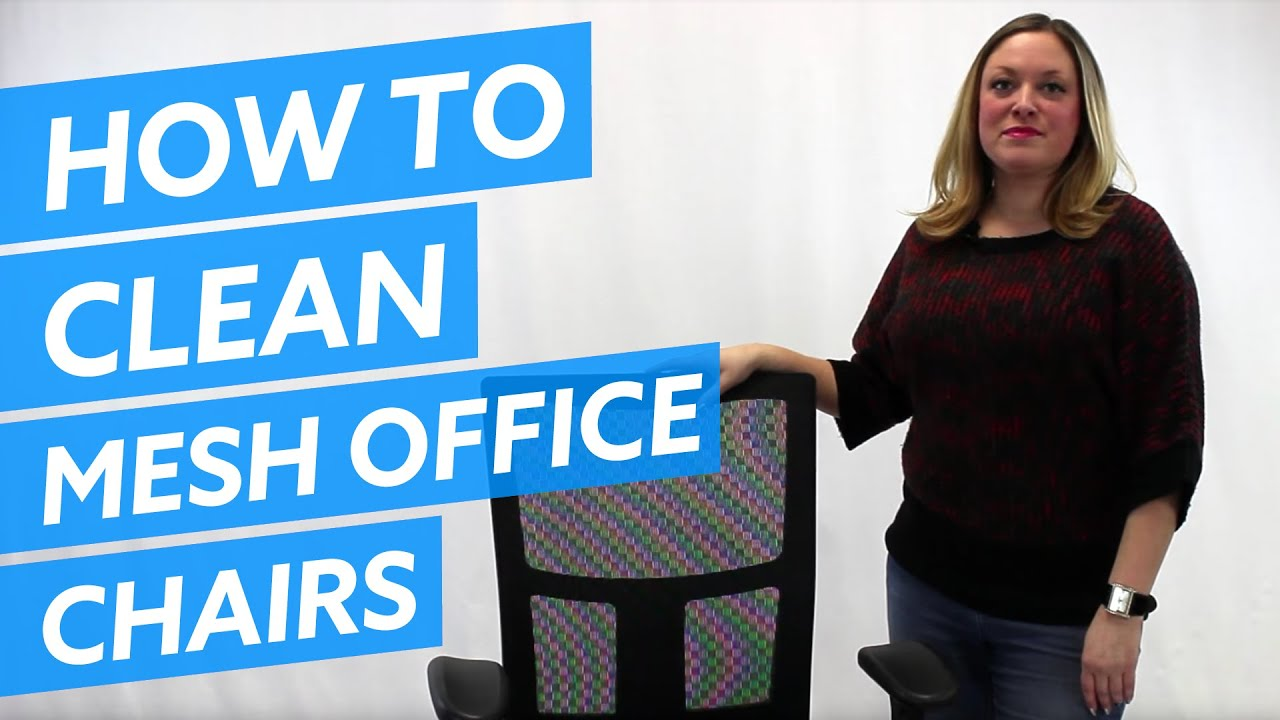 desk chair youtube covers and sashes wholesale how to clean a mesh office