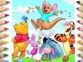 drawing /coloring winnie & disney characters with song for kids