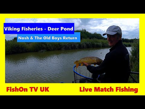 FishOn TV UK : Live Match Fishing : Viking Fisheries : Deer Pond : Nosh & The Old Boys : July 2020