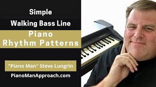Become Your Own Rhythm Section Series, Walking Bass Rhythm Pattern #1 in C