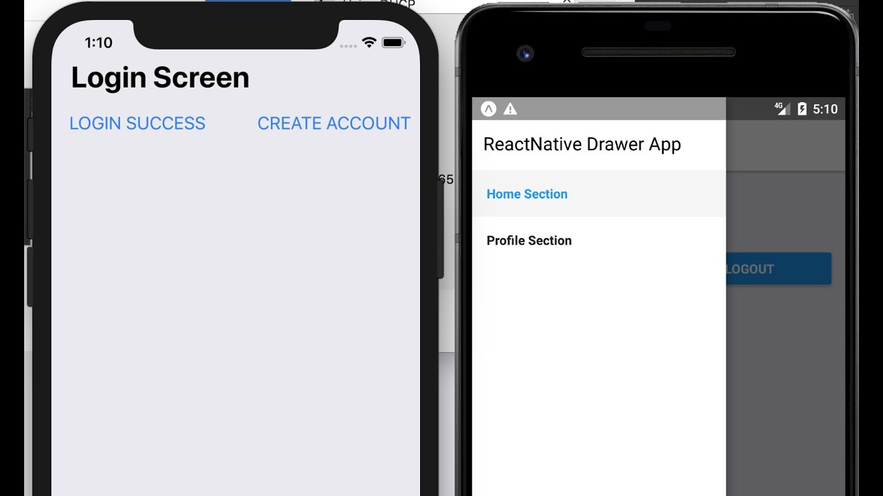 DrawerNavigator, StackNavigator, TabNavigator in React Native Applications