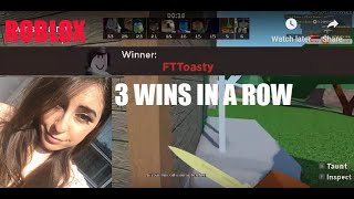 BEST PRO GIRL ROBLOX ARSENAL PLAYER 3 WINS IN A ROW