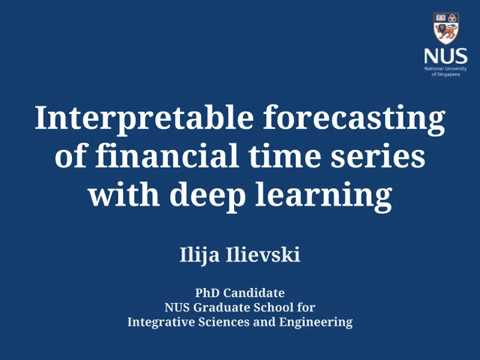 Interpretable forecasting of financial time series with deep learning