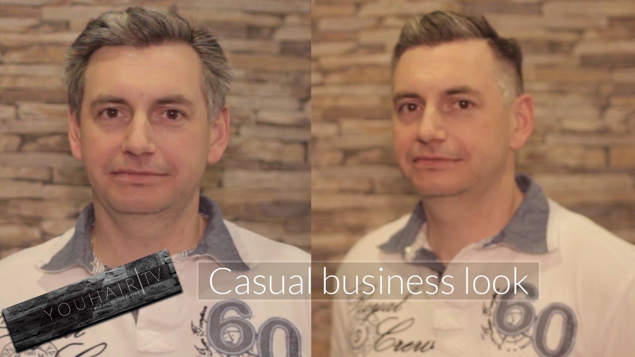 Casual Business Look Extremer Vorher Nachher Effekt Trendhaarschnitt Manner 2016 Youhairtv