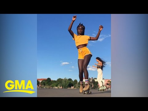 A new generation has discovered 'jam skating,' and this skater is one of the best | GMA