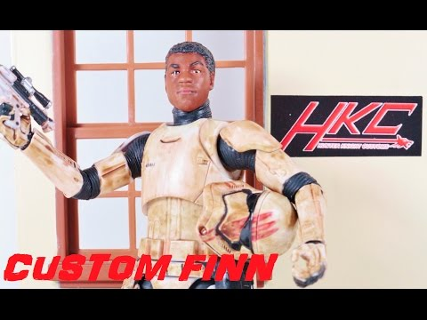 Custom FINN IN STORMTROOPER ARMOR Star Wars Black series 6 inch figure by HKC The force Awakens