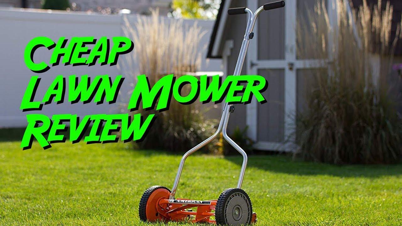 American Lawn Mower Company 1204-14 14-Inch 4-Blade Push Reel Lawn Mower