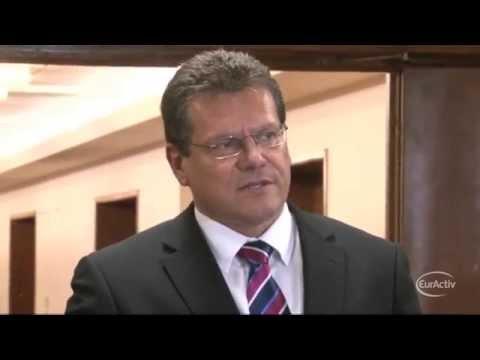 Šefčovič 'very surprised' at Russia's decision to cut EU gas supply via Ukraine