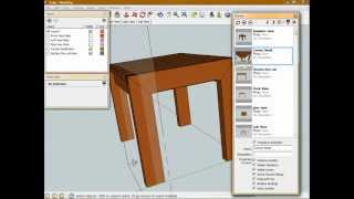 Introduction To Sketchup - Model A Simple Woodworking Project - Part 5