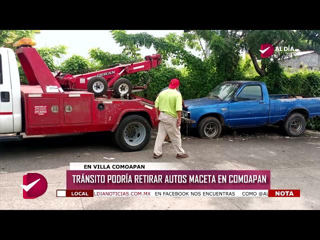 TRÁNSITO PODRÍA RETIRAR AUTOS MACETA EN COMOAPAN