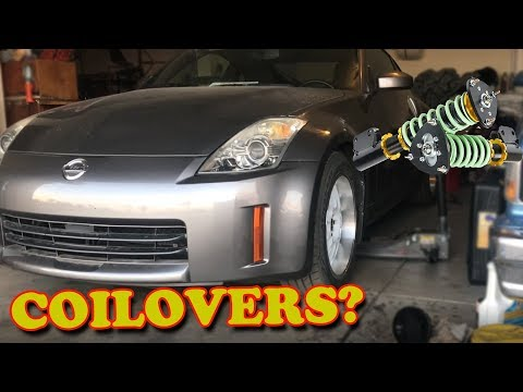 ADJUSTING THE COILOVERS ON MY HR 350Z