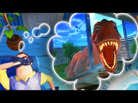 GETTING EATEN BY A T-REX IN HELLO NEIGHBOR'S DREAM!? | Escape Your Dreams! - Suicide Guy Gameplay