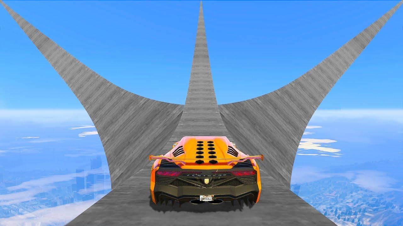 WORLD'S BIGGEST MEGA RAMPS RACE! - GTA 5 Funny Moments