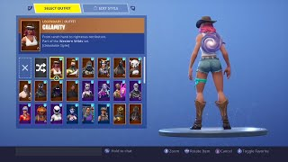 """FORTNITE: NEW GALAXY BACK BLING! """"GALACTIC DISC"""" SHOWCASED WITH 50+ SKINS!"""