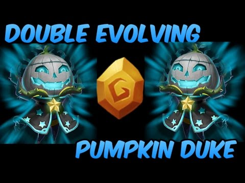 Double Evolving Pumpkin Duke 8/8 Berserk Castle Clash