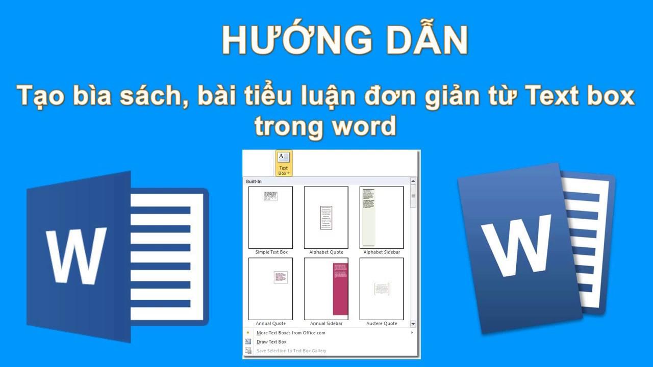 Tạo bìa báo cáo, tiểu luận đơn giản từ  Text box trong Word ✔️