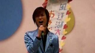 風蓮湖でのイベントで望郷じょんがらを歌っていました(´∀`*)大熱唱でし...