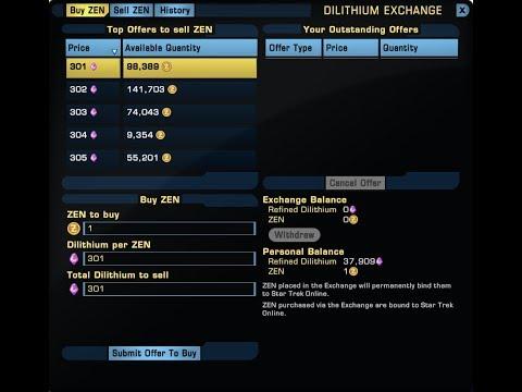Understanding Star Trek Online: Dilithium Market