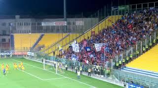 Coppa Italia, Parma-Pisa 0-1 esultanza tifosi pisani