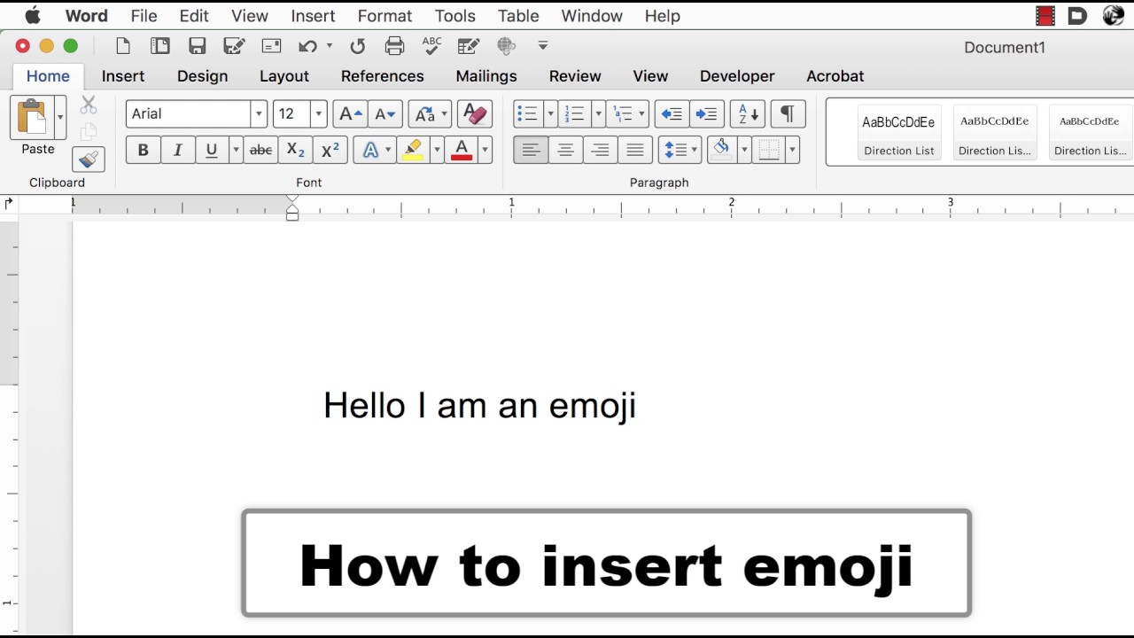 smileys for word document