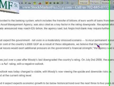 Bank bailouts bleeding Ireland! Ireland's credit rating downgraded by Moody's