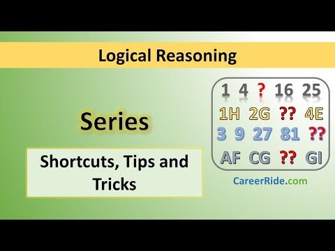 Series - Tricks & Shortcuts For Placement Tests, Job Interviews & Exams