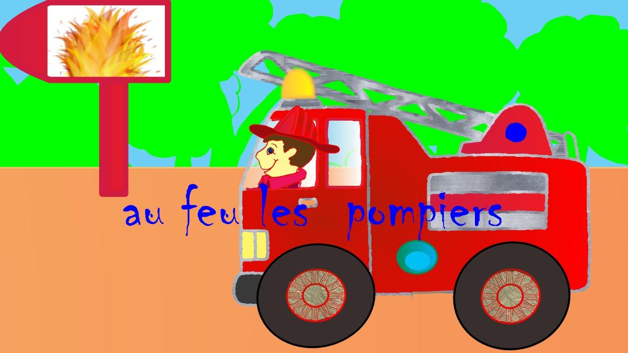 comptine au feu les pompiers comptines pour les petits