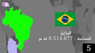 بالفيديو : تعرف على أكبر 10 دول فى العالم بالمساحة