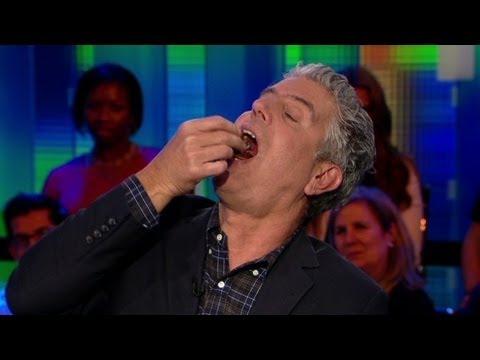 Bourdain eats fetal duck egg on air