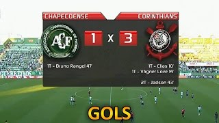Gols, Chapecoense 1 x 3 Corinthians - Brasileirão  30/08/2015