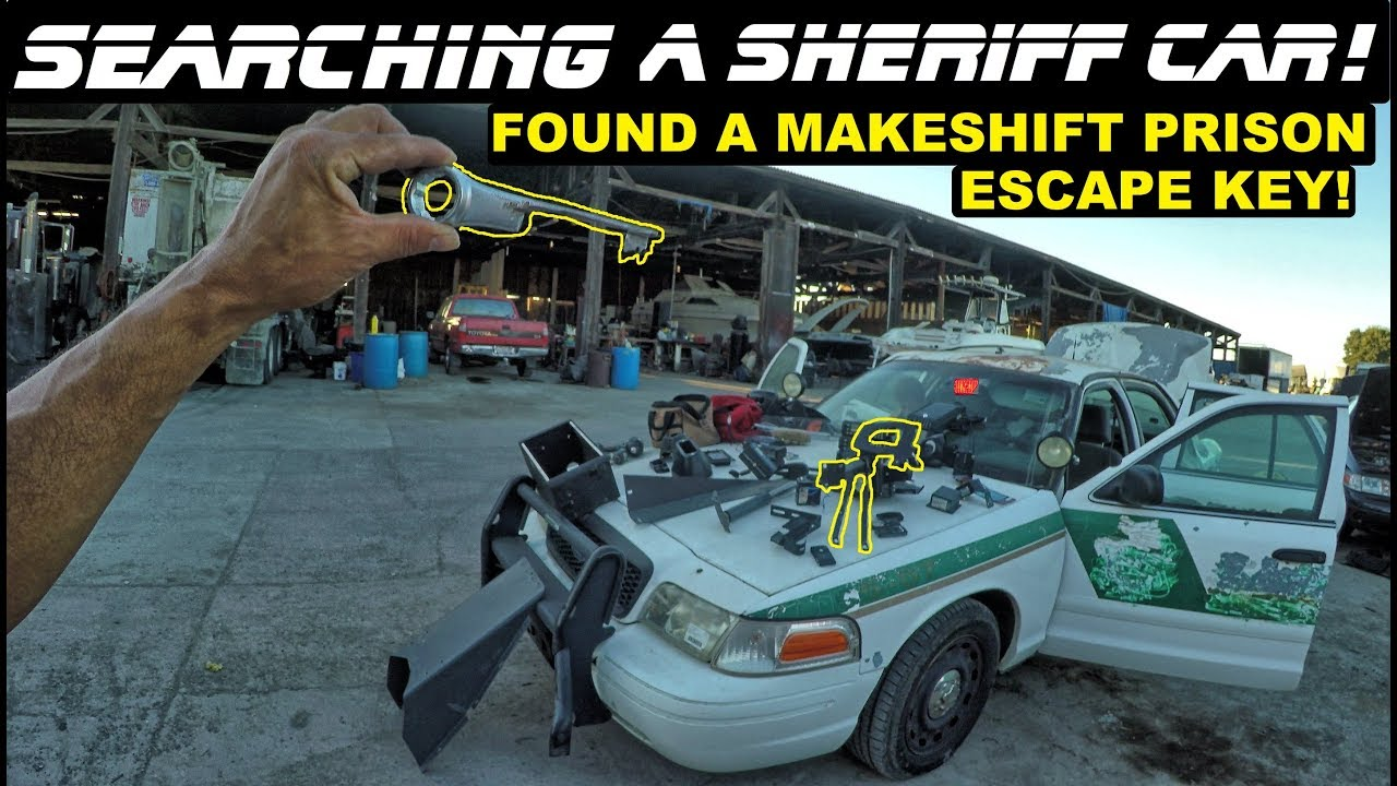searching-a-sheriff-car-found-makeshift-prison-escape-key-ford-crown-vic-police