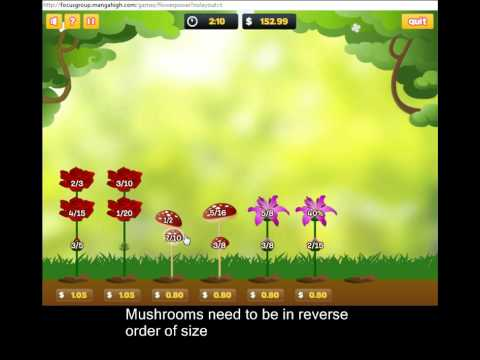 Flower Power - a Math Game - YouTube