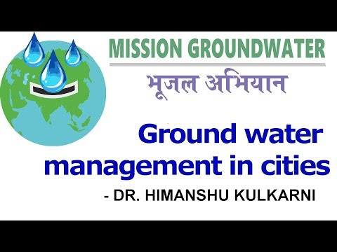 Ground Water Management in Cities