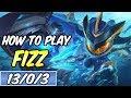 HOW TO PLAY FIZZ | Build & Runes | Diamond Commentary | Super Galaxy Fizz | League of Legends