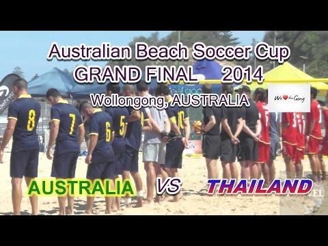 Australian Beach Soccer Cup final Aus vs Thailand
