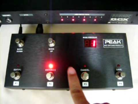 MIDI foot controller FCB4N Ver.2.0 with GCX Guitar Audio switcher.