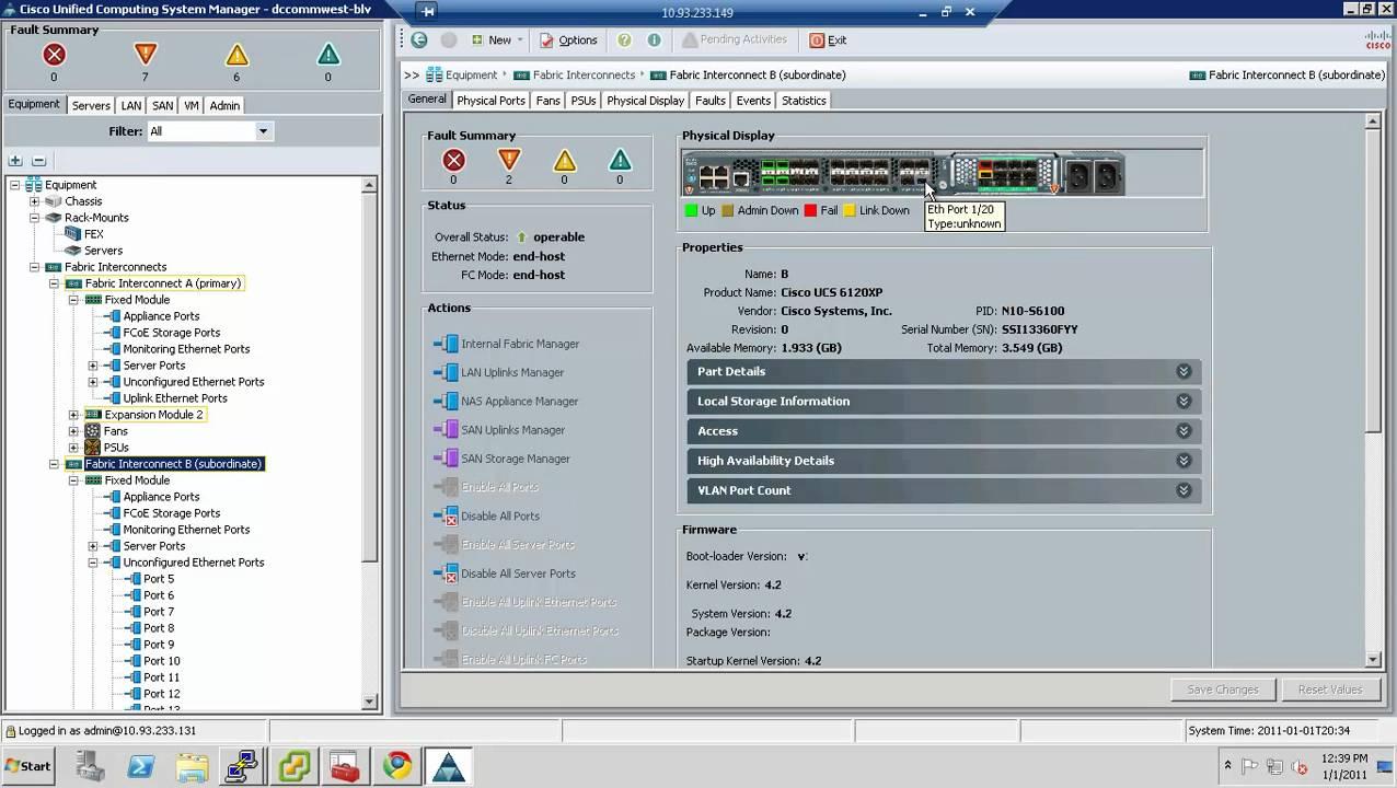 Cisco UCS Initial Setup
