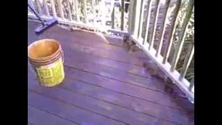 Log Home Restoration: Deck Seal