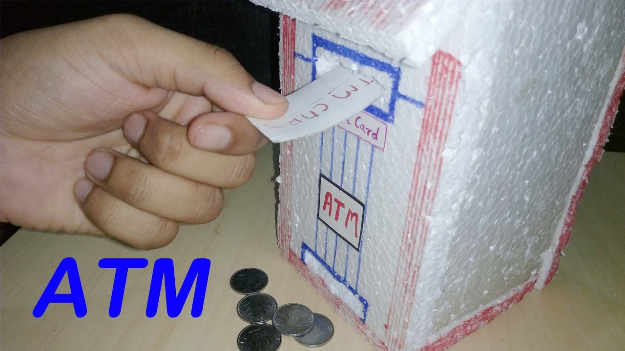 How to make piggy bank atm machine at home easy way diy for How to make a simple piggy bank