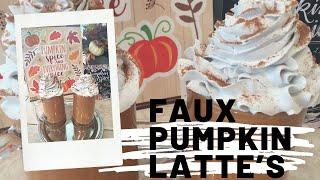 Fun Craft/Fall DIY Faux  Pumpkin Latte's