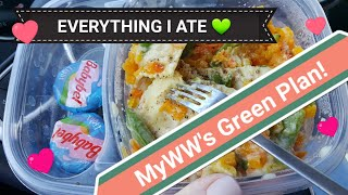 EVERYTHING I Ate to Lose Weight on MyWW's GREEN 💚 Plan | Food Vlog