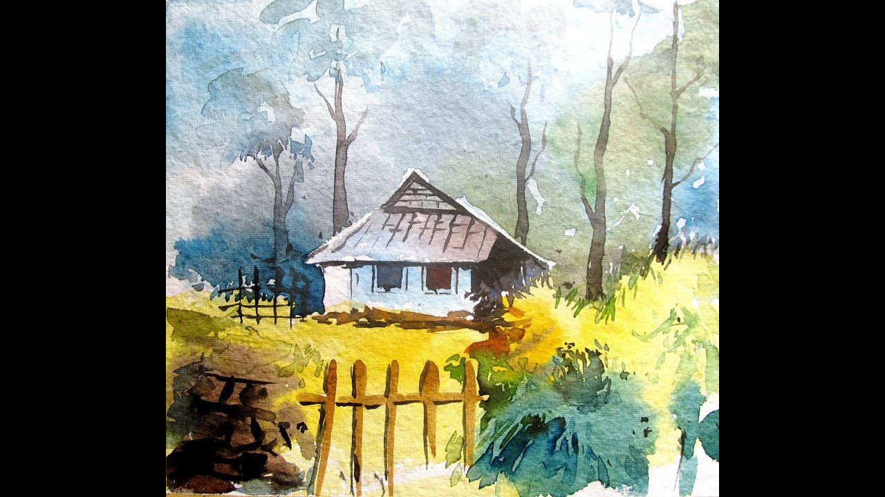 Watercolor Painting Tutorial For BeginnersLANDSCAPE